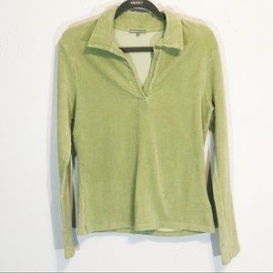James Perse light green popover ribbed top size 4